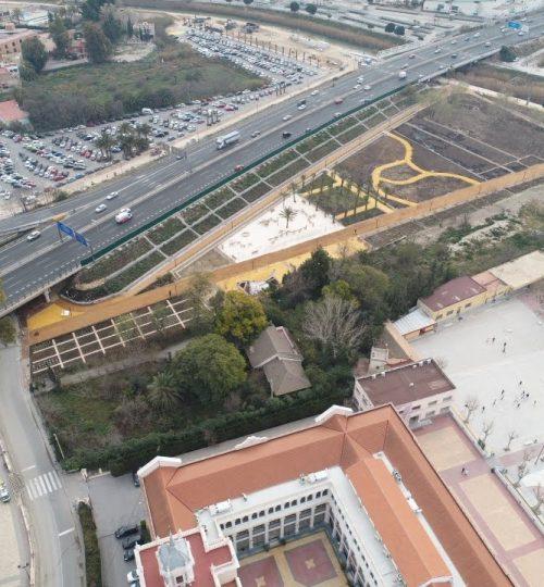 Dron Murcia Río ciudad